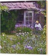 In The Iris Garden Wood Print