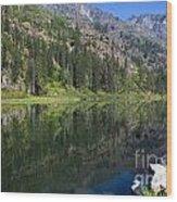 In The Lake Wood Print