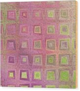 In The Pink With Squarish Squares  Wood Print