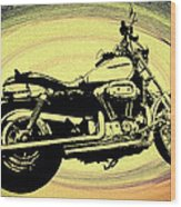 In The Vortex - Harley Davidson Wood Print