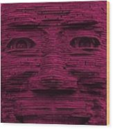 In Your Face In Hot Pink Wood Print