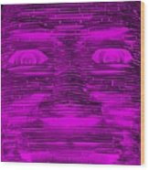 In Your Face In Negative Purple Wood Print