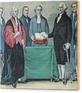 Inauguration Of George Washington, 1789 Wood Print by Photo Researchers