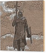 Inca Warrior Wood Print