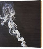 Incense Smoke Rising, New Zealand Wood Print