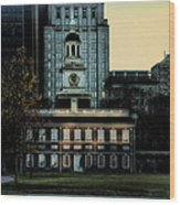 Independence Hall - The Cradle Of Liberty Wood Print by Bill Cannon