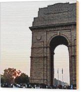 India Gate Milieu Wood Print
