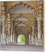 India, Uttar Pradesh, Agra, Agra Fort, Hall Of Public Audience Wood Print