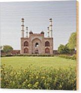 India, Uttar Pradesh, Agra, Sikandra, Akbar's Tomb Wood Print