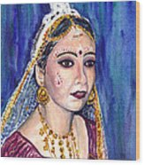Indian Bride  Wood Print