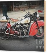Indian Chief Motorcycle Rare Wood Print