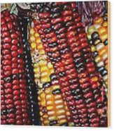 Indian Corn Wood Print