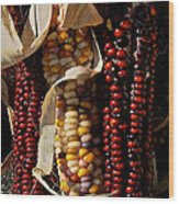 Indian Corn Wood Print by Susan Herber