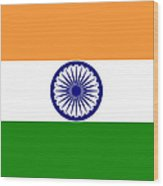Indian Flag Wood Print