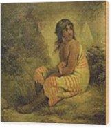 Indian Girl Wood Print