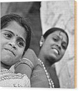 Indian Girls Wood Print