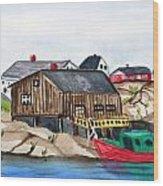 Indian Harbour Peggys Cove  Nova Scotia Wood Print