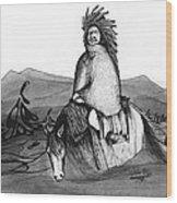 Indian Horse Wood Print