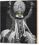 Indian Kathakali Dance Of Kerela 2 Wood Print by Sumit Mehndiratta