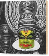 indian kathakali dance of Kerela Wood Print