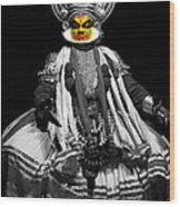 Indian Kathakali Dance Wood Print
