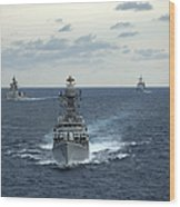 Indian Navy Corvette Ship Ins Kulish Wood Print