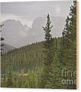 Indian Peaks Colorado Rocky Mountain Rainy View Wood Print