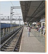 Indian Railway Station Wood Print