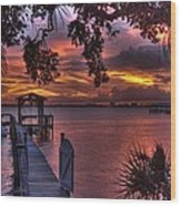 Indian River Sunset Wood Print