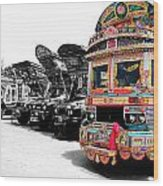 Indian Truck Wood Print