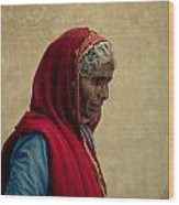 Indian Woman Wood Print