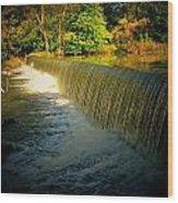 Indiana Waterfall Wood Print by Joyce Kimble Smith