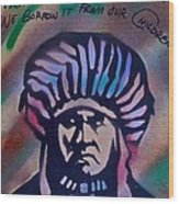 Indigenous Motto Earth Tones Wood Print