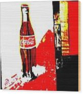 Indonesian Coke Ad Wood Print by Funkpix Photo Hunter