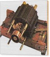 Induction Motor Wood Print
