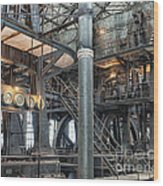 Industrial 8 Wood Print