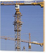 Industrial Cranes Wood Print