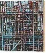 Industrial Disease Wood Print