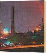 Industrial Lights Wood Print
