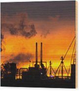 Industrial Strength Sunset Wood Print