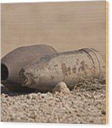 Inert Artillery Rounds Litter Camp Wood Print
