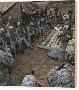 Infantrymen Receive Their Safety Brief Wood Print
