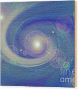 Infinity Blue Wood Print