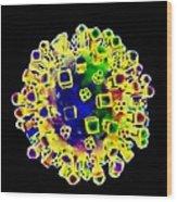 Influenza Virus, Artwork Wood Print