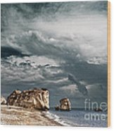 Infrared Aphrodite Rock Wood Print