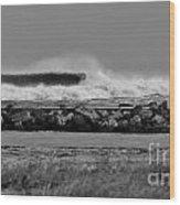 Inlet Storm Surf Wood Print
