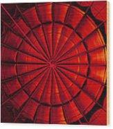 Inside A Hot Air Balloon Wood Print