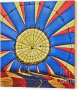 Inside A Hot Air Balloon Wood Print