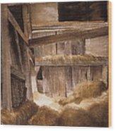 Inside Keeler's Barn Wood Print