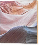 Inside Lower Antelope Canyon Wood Print